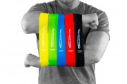 Physical Therapy Bands by Introspire -Set of 5 | Light Weight Resistance Bands | Exercise Bands for Strength Training, Therapy, Stretching | Bonus Electronic Exercise Brochure for Total Body Workout